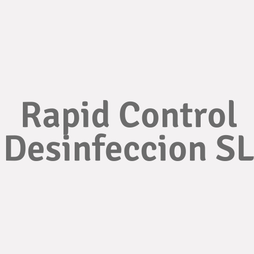 Rapid Control Desinfeccion SL