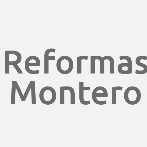 Reformas Montero