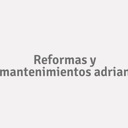 Reformas Y Mantenimientos Adrian