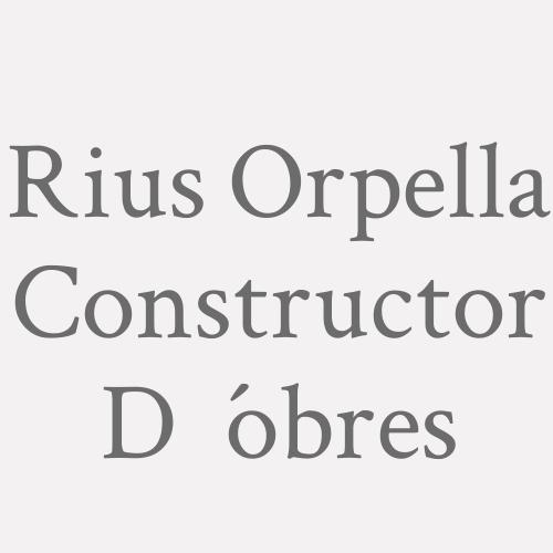 Rius Orpella Constructor D´obres