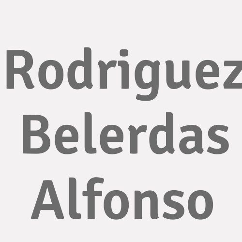 Rodriguez Belerdas Alfonso