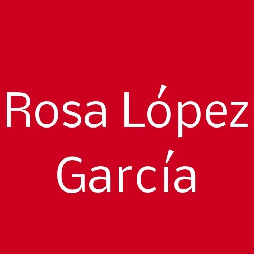 Rosa López García