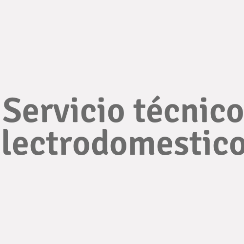 Servicio Técnico Electrodomesticos