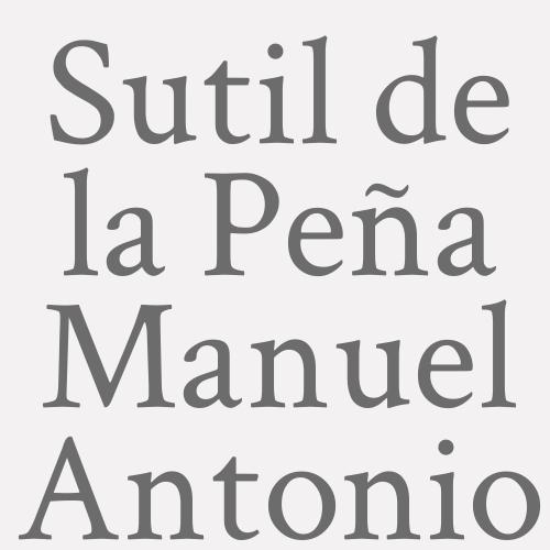 Sutil de la Peña Manuel Antonio