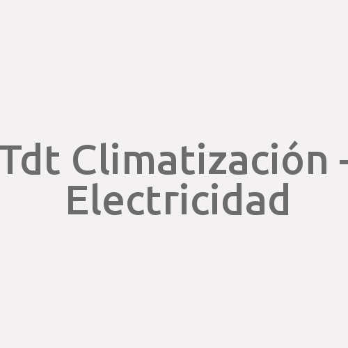 Tdt Climatización - Electricidad
