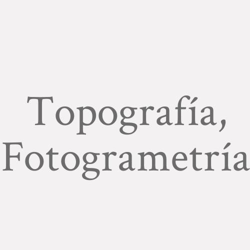 Topografía, Fotogrametría