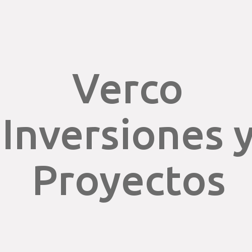Verco Inversiones Y Proyectos