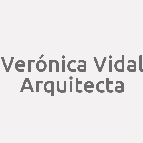 Verónica Vidal. Arquitecta.