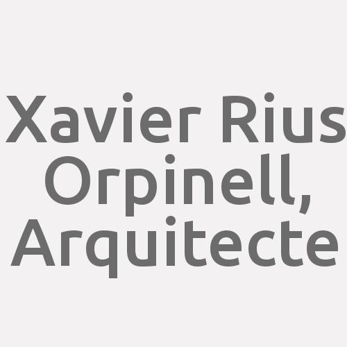 Xavier Rius Orpinell, Arquitecte