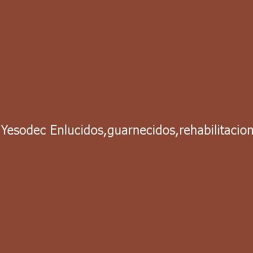 Yesodec Enlucidos, Guarnecidos, Rehabilitación