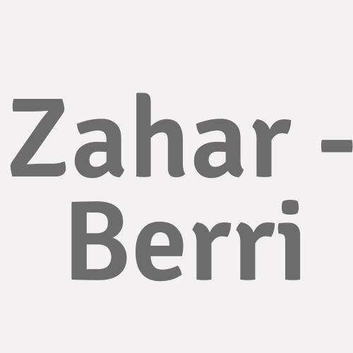 Zahar - Berri