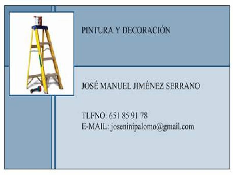 José Manuel Jiménez. Pintura Y Decoración