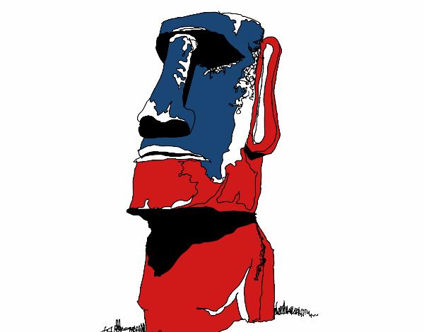 Moai pintura