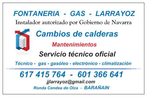 Instalador-Mantenedor Gas Larrayoz
