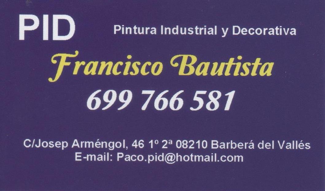 Pintura Industrial Y Decorativa Francisco Bautista