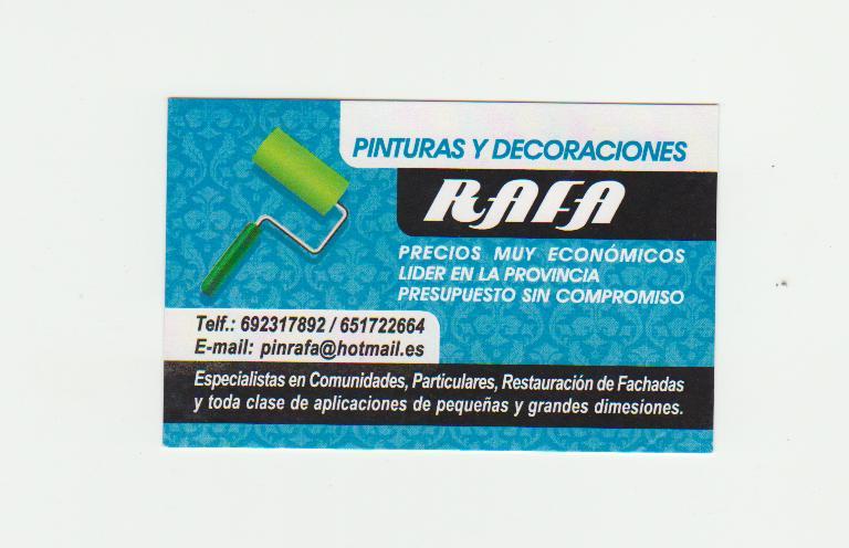 Pinturas Y Decoraciones Rafa