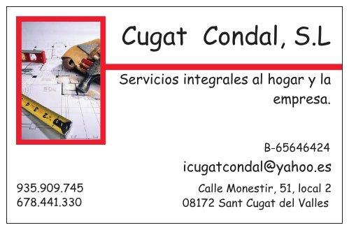 CUGAT CONDAL, S.LReformas. Instalaciones.