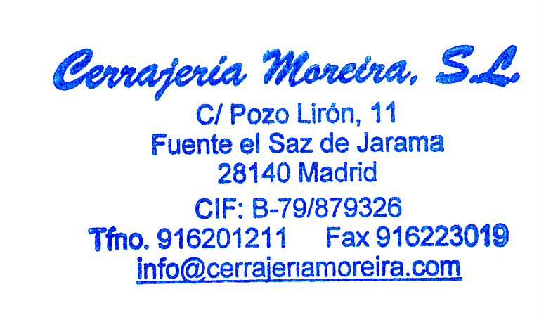 Cerrajería Moreira. Ventanas - Puertas - Rejas