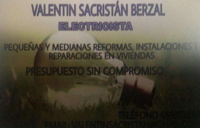 Instalaciones eléctricas Valentin