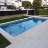 construcción de  una piscina de obra