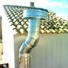Cambio tubos de bajante en un desagüe de unas cubiertas de un garaje