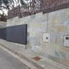 Hacer muro exterior de piedra natural