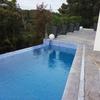 Cimentación para colocar encima una piscina desmontable de 35000  litros