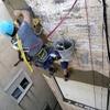 Pequeña reforma comunidad reforzar ornamentación de hierro de jardineras en fachada de edificio