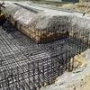 Losa de cimentación y muro hormigón