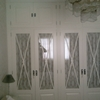 Armario exterior de aluminio blanco
