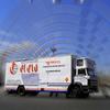 2 camiones grandes gravilla