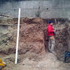 Trabajo de cimentacion muro separacion parcelas