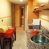 Cocina: muebles, granito, suelo, azulejos