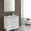 Foto: Conjunto Mueble de Baño Aris 80 cm. Tres Cajones Blanco