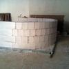 Construcción muro bloques hormigón