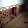 Construcción de armario de obra en el exterior