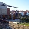 Construcción muro de hormigón