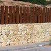 Muro y vaya metálica perimetral