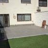 Decoración patio 15x50 m2