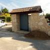 Puertas pvc de garaje y peatonal de entrada a parcela