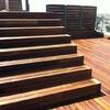 Revestir con madera peldaños