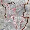 Plano acotado referenciado sobre cartografia catastral o georreferennciado
