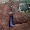 Excavacion de un pozo de tuberia