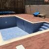 Construccion piscina 7x4 en granada con escalera de obra