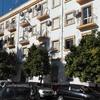 Pintura de fachada en edificio de viviendas