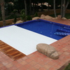 Contrucción de piscina de obra con cubierta transitable