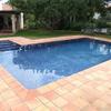 Recuperar suelo exterior piscina y porches en teka