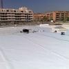 Tela pvc en cubierta parquing 500 m2