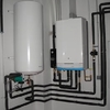 Instalación de calentador de gas, grifo de bañera