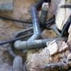 Instalación de saneamiento de nueva casa a la red de la calle